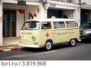 Купить «Ретро скорая помощь», фото № 3819968, снято 6 апреля 2012 г. (c) Виталий Харин / Фотобанк Лори
