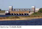 Рыбинская ГЭС N1 (2011 год). Стоковое фото, фотограф Алексей Шипов / Фотобанк Лори