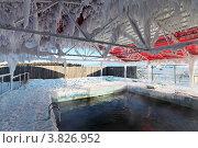 Купить «Сибирь, Бурятия, поселок Жемчуг. Оздоровительный комплекс - углекислый бассейн на открытом воздухе», фото № 3826952, снято 11 февраля 2012 г. (c) Игорь Долгов / Фотобанк Лори