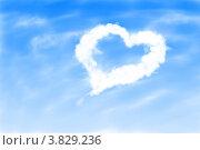Купить «Облако в виде сердца», иллюстрация № 3829236 (c) Анна Павлова / Фотобанк Лори