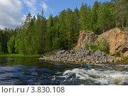 Купить «Пороги на северной реке. Финская Карелия», фото № 3830108, снято 24 июля 2012 г. (c) Валерия Попова / Фотобанк Лори