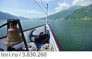 Купить «Озеро Комо (Италия) летом, вид с борта судна», видеоролик № 3830260, снято 8 сентября 2012 г. (c) Юрий Брыкайло / Фотобанк Лори