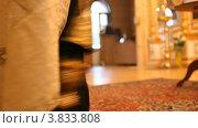 Купить «Русская православная церковь,  Пасха. Священник, кадило», видеоролик № 3833808, снято 13 сентября 2012 г. (c) Mikhail Erguine / Фотобанк Лори