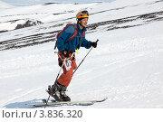 Купить «Ски-альпинизм. Камчатка», фото № 3836320, снято 21 апреля 2012 г. (c) А. А. Пирагис / Фотобанк Лори