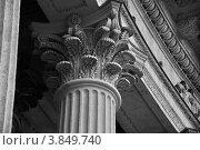 Узоры на верхней части колонны Казанского собора в Санкт-Петербурге (2012 год). Стоковое фото, фотограф Александр Дубровский / Фотобанк Лори