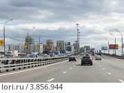 Купить «Ленинградское шоссе (М10). Мост через реку Москву.», фото № 3856944, снято 31 августа 2012 г. (c) Родион Власов / Фотобанк Лори