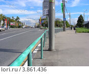 Купить «Вид на Щелковское шоссе, поворот на начало Сиреневого бульвара. Москва», эксклюзивное фото № 3861436, снято 5 сентября 2012 г. (c) lana1501 / Фотобанк Лори