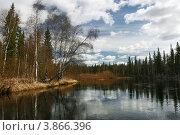 Пейзаж весенней реки. Стоковое фото, фотограф Юрий Дворников / Фотобанк Лори