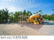 Купить «Ахтубинск. Детская площадка в парке», эксклюзивное фото № 3870828, снято 27 сентября 2012 г. (c) katalinks / Фотобанк Лори