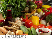 Купить «Свежие овощи для консервирования или заготовки», фото № 3872016, снято 27 сентября 2012 г. (c) Владимир Мельников / Фотобанк Лори