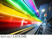 Радужный ночной экспресс. Стоковое фото, фотограф Константин Сутягин / Фотобанк Лори