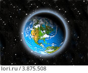 Купить «Земля на фоне звезд», иллюстрация № 3875508 (c) Голкин Андрей Александрович / Фотобанк Лори