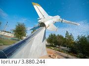Купить «Самолет СУ-17 М3, Ахтубинск», эксклюзивное фото № 3880244, снято 27 сентября 2012 г. (c) katalinks / Фотобанк Лори