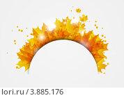 Купить «Бумажный фон с осенними листьями», иллюстрация № 3885176 (c) Евгения Малахова / Фотобанк Лори