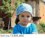 Девочка в голубой косынке. Стоковое фото, фотограф бобух олег / Фотобанк Лори