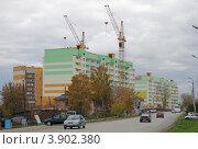 Строительство нового района, город Арамиль, Свердловская область (2012 год). Редакционное фото, фотограф Оксана Мурзина / Фотобанк Лори