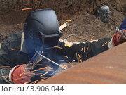 Сварщик за работой (2012 год). Редакционное фото, фотограф Юрий Москаленко / Фотобанк Лори