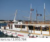 Купить «Корабль стоит на причале в Адриатическом море. Хорватия, Европа», эксклюзивное фото № 3910784, снято 22 апреля 2019 г. (c) lana1501 / Фотобанк Лори