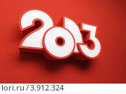 Купить «Новый год 2013. Стилизованные цифры на красном фоне», иллюстрация № 3912324 (c) Дмитрий Кутлаев / Фотобанк Лори