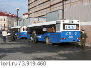 Купить «Передвижные автобусы-туалеты МАЗ-163Ж и МАЗ-163М, Санкт Петербург», фото № 3919460, снято 27 апреля 2012 г. (c) Юрий Акимов / Фотобанк Лори