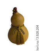 Купить «Японская традиционная фляга из тыквы-горлянки (хётан) на белом фоне», фото № 3928204, снято 19 мая 2012 г. (c) Иван Марчук / Фотобанк Лори