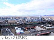 Вид на элеватор. Город Улан-Удэ (2012 год). Редакционное фото, фотограф Юрий Кузнецов / Фотобанк Лори