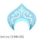 Купить «Кокошник Снегурочки», иллюстрация № 3940332 (c) Ирина Балина / Фотобанк Лори