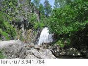 Купить «Водопад Корбу. Горный Алтай.», фото № 3941784, снято 19 июня 2011 г. (c) Александр Тараканов / Фотобанк Лори