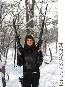 Вооруженная прекрасная леди, фото № 3943204, снято 25 января 2011 г. (c) Сергей Сухоруков / Фотобанк Лори