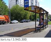 Купить «Вид на 9-ую Парковую улицу, район Измайлово. Москва», эксклюзивное фото № 3943300, снято 9 августа 2012 г. (c) lana1501 / Фотобанк Лори