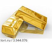 Слитки золота. Стоковая иллюстрация, иллюстратор Ирина Свириденко / Фотобанк Лори
