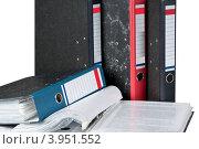 Купить «Офисные папки с документами», фото № 3951552, снято 16 октября 2012 г. (c) Голубев Андрей / Фотобанк Лори