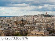Франция, Париж, вид с Собора Парижской Богоматери, фото № 3953876, снято 29 апреля 2012 г. (c) Алексей Ширманов / Фотобанк Лори
