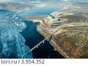 Купить «Чернышевская ГЭС», фото № 3954352, снято 21 октября 2012 г. (c) Роман Фомин / Фотобанк Лори