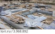 Купить «Фундамент для жилого дома», фото № 3968892, снято 30 сентября 2012 г. (c) Константин Безденежных / Фотобанк Лори