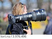 Купить «Фотограф с фотокамерой», эксклюзивное фото № 3976496, снято 6 мая 2012 г. (c) Александр Алексеев / Фотобанк Лори