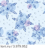 Купить «Снежинки, бесшовный фон», иллюстрация № 3979952 (c) Даша Богословская / Фотобанк Лори