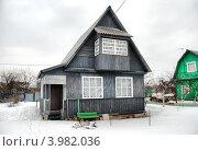 Дачный домик, Ногинский район, Московская область (2010 год). Стоковое фото, фотограф lana1501 / Фотобанк Лори