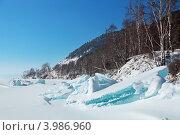 Купить «Ледяные торосы на озере Байкал, Сибирь, зимний пейзаж», фото № 3986960, снято 18 февраля 2012 г. (c) Игорь Долгов / Фотобанк Лори