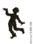 Силуэт человека, выложенный из листьев чая. Стоковое фото, фотограф Светлана Самаркина / Фотобанк Лори