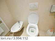 Купить «Туалет, унитаз и биде», фото № 3994112, снято 5 февраля 2010 г. (c) Elnur / Фотобанк Лори