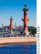 Купить «Ростральные колонны в солнечный день, Санкт-Петербург», фото № 3994524, снято 3 августа 2012 г. (c) Яков Филимонов / Фотобанк Лори