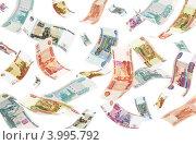 Купить «Падающие рубли на белом фоне», фото № 3995792, снято 31 марта 2020 г. (c) Самохвалов Артем / Фотобанк Лори