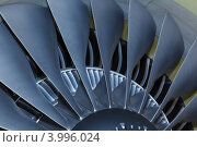 Купить «Лопасти турбины реактивного двигателя самолета», фото № 3996024, снято 29 сентября 2012 г. (c) Mikhail Starodubov / Фотобанк Лори