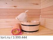 Купить «Интерьер русской бани», фото № 3999444, снято 2 ноября 2012 г. (c) Александр Катайцев / Фотобанк Лори