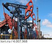 Купить «Нефтяные насосы», фото № 4007968, снято 10 сентября 2007 г. (c) Георгий Shpade / Фотобанк Лори