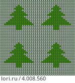 Вязаная текстура с новогодними елками. Стоковое фото, фотограф Евгения Малахова / Фотобанк Лори