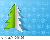 Купить «Елочка из бумаги - Новогодняя открытка», фото № 4008564, снято 16 сентября 2019 г. (c) Евгения Малахова / Фотобанк Лори