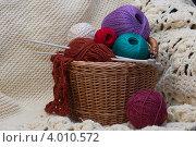 Купить «Комплект для вязания», фото № 4010572, снято 11 ноября 2012 г. (c) Максим Кузнецов / Фотобанк Лори