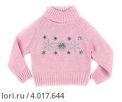 Купить «Розовый детский свитер», фото № 4017644, снято 9 ноября 2012 г. (c) Руслан Кудрин / Фотобанк Лори